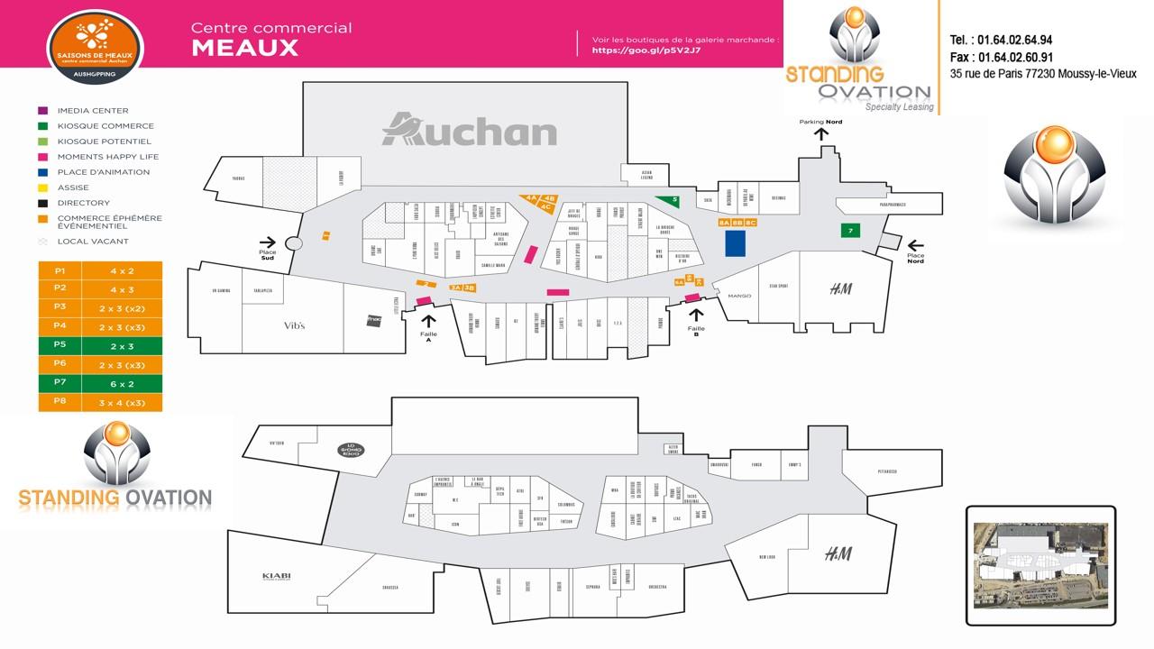 Plan MEAUX Auchan Les Saisons de Meaux