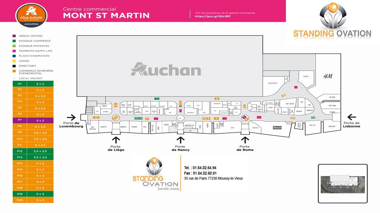 Plan Mont Saint-Martin Auchan Pôle Europe