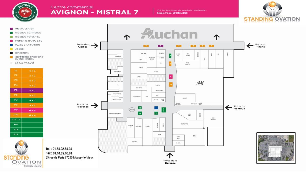 Plan Avignon Mistral 7 Auchan