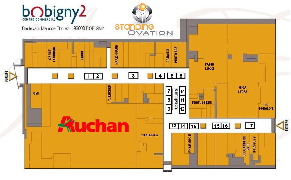 Plan Bobigny 2 Auchan