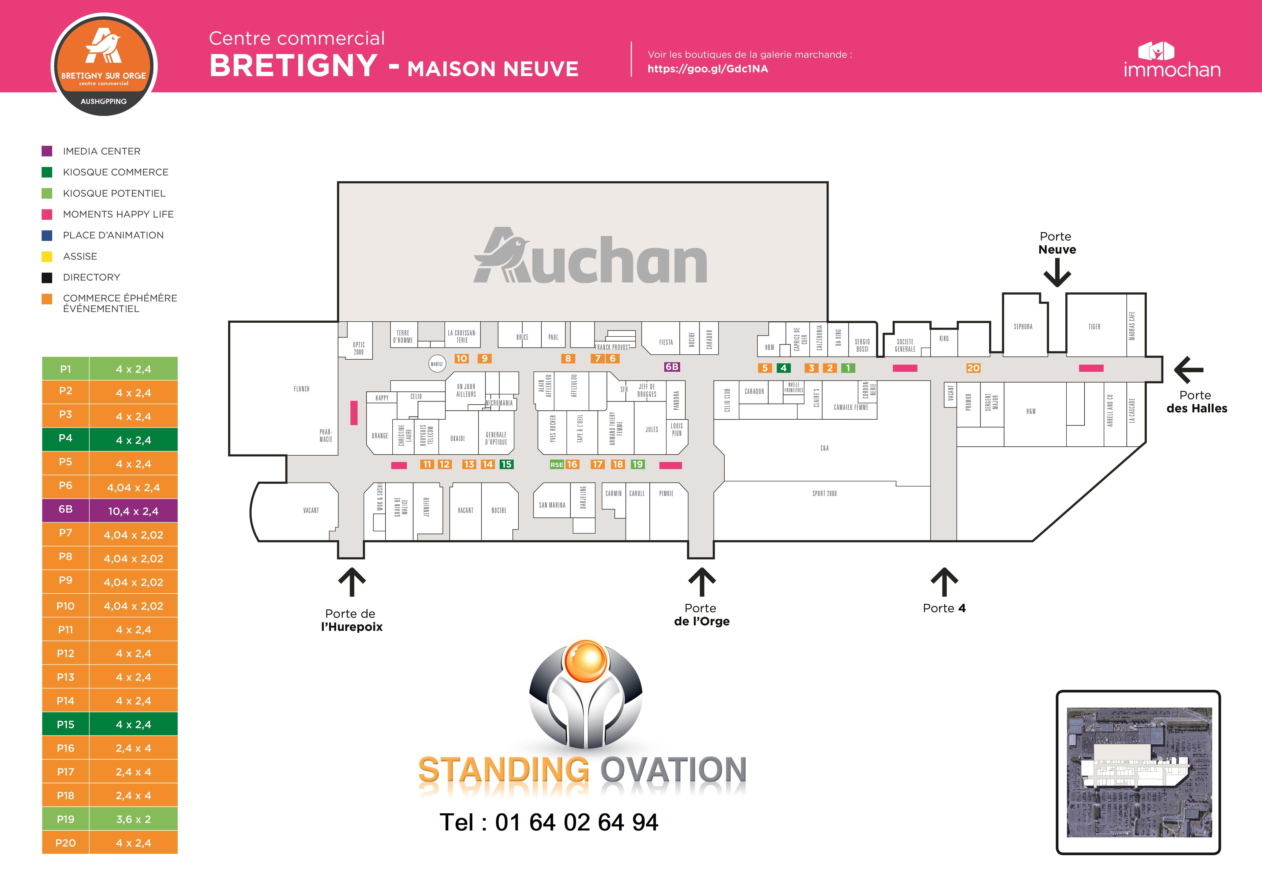 Plan  Brétigny Auchan