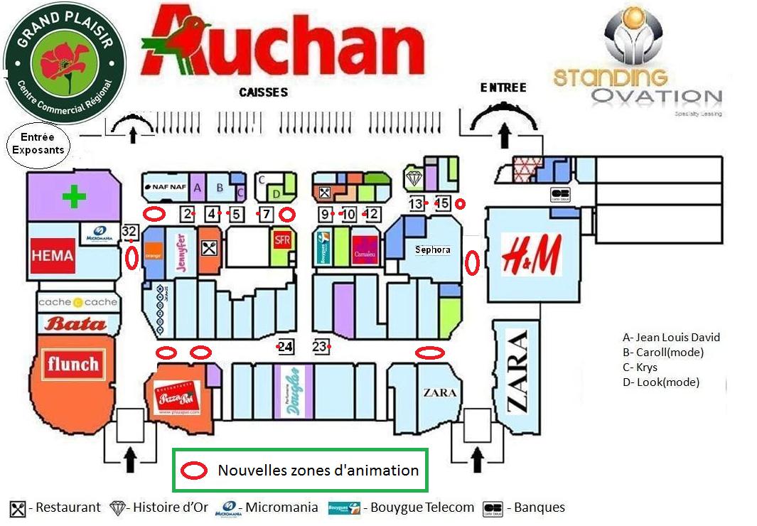 Standing ovation march de no l sur grand plaisir auchan - Auchan lac horaire ...