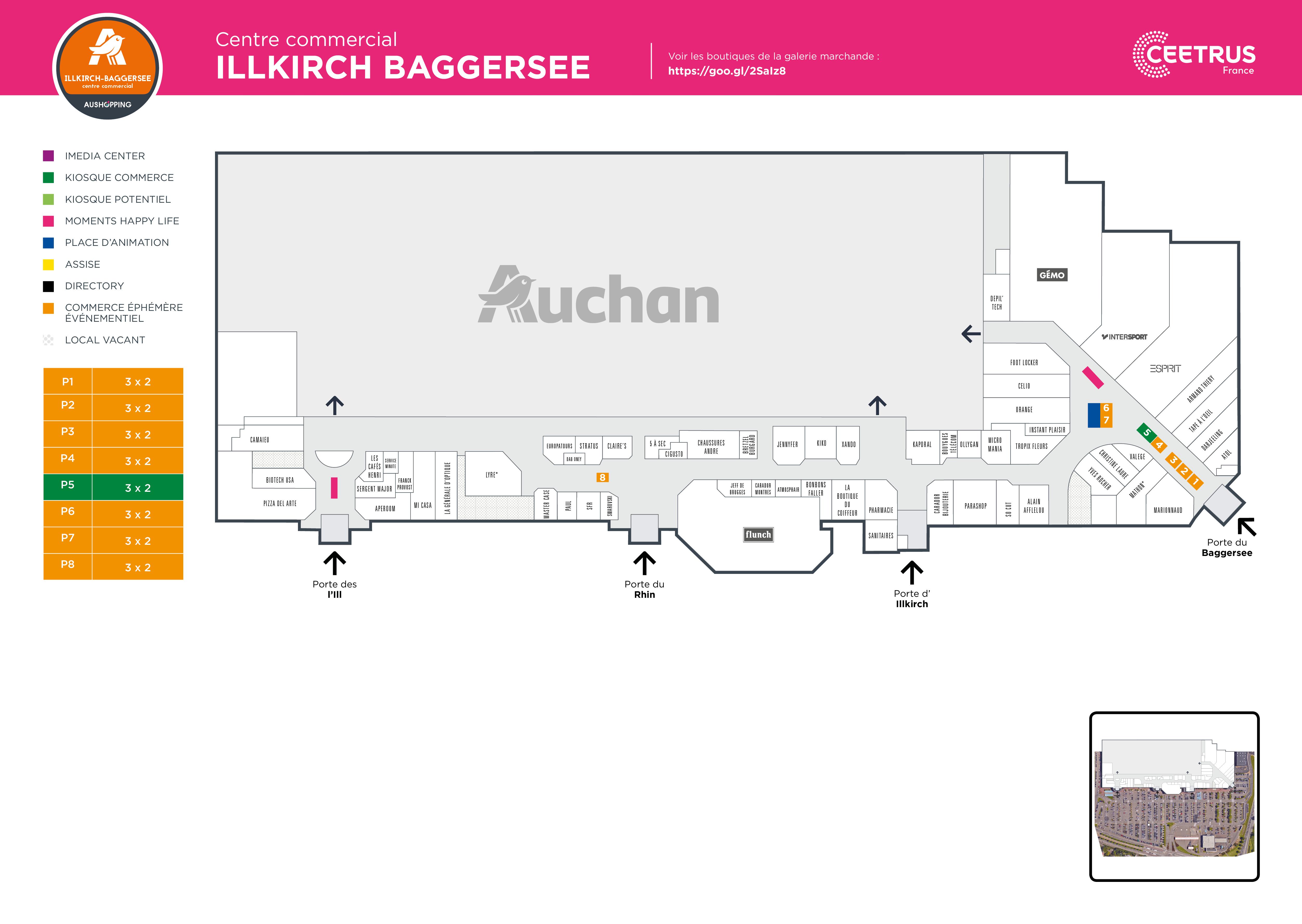 Plan Illkirch Baggersee Auchan