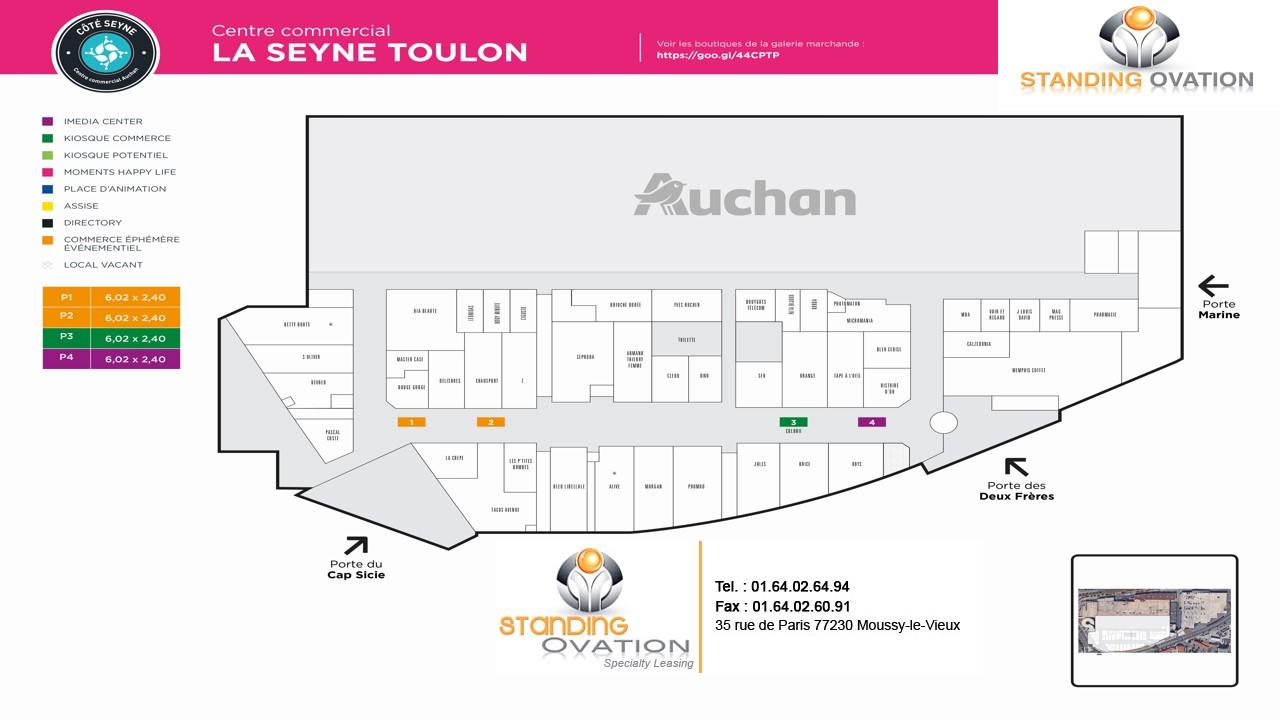 Plan La Seyne sur Mer Auchan