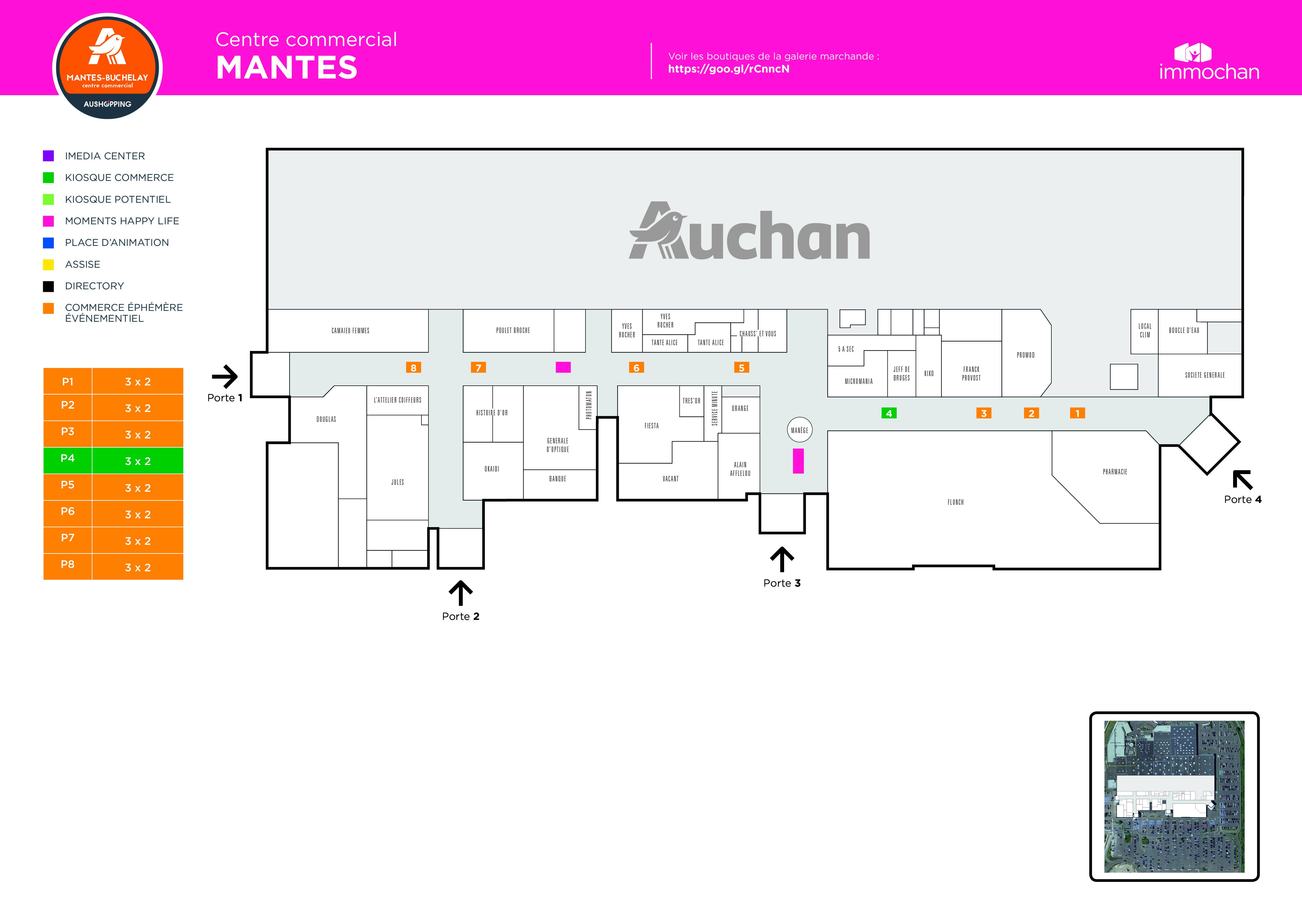 Plan Mantes Auchan