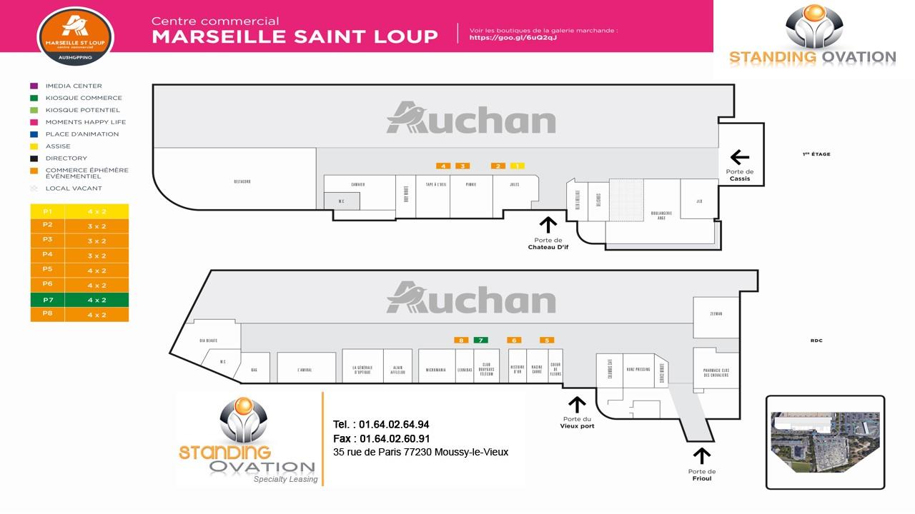 Plan Marseille St Loup Auchan