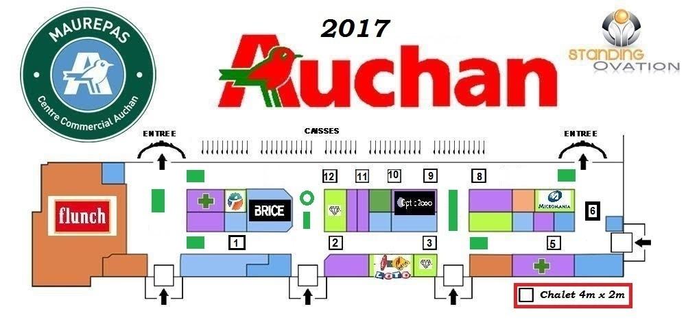 Plan Maurepas Auchan