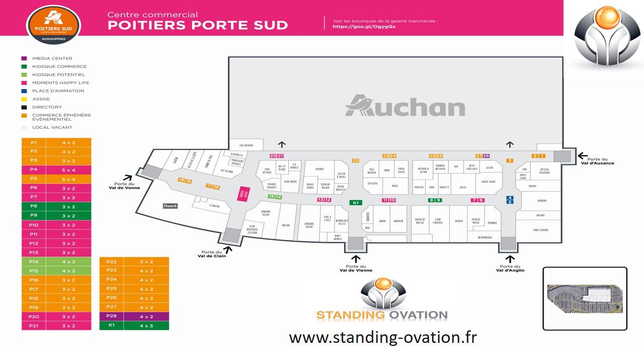 Plan Poitiers Sud Auchan