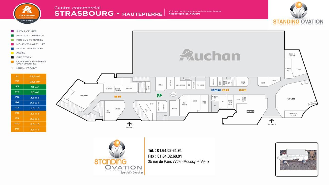 Plan Strasbourg Hautepierre Auchan