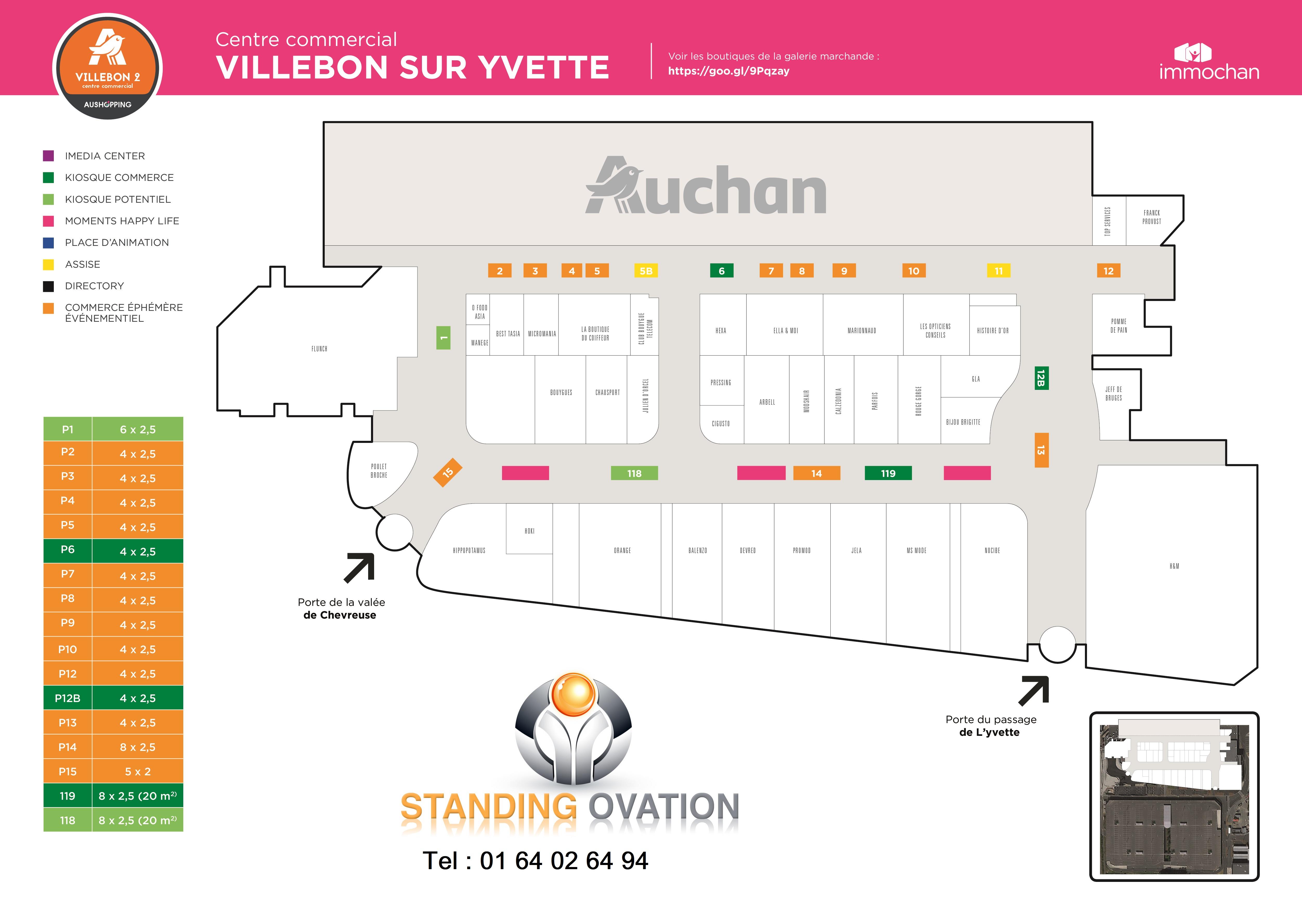 Plan  Villebon 2 Auchan