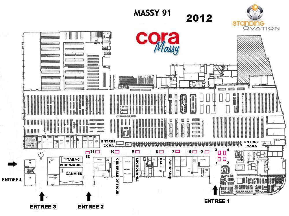 Standing ovation objets du monde sur massy cora - Massy centre commercial ...