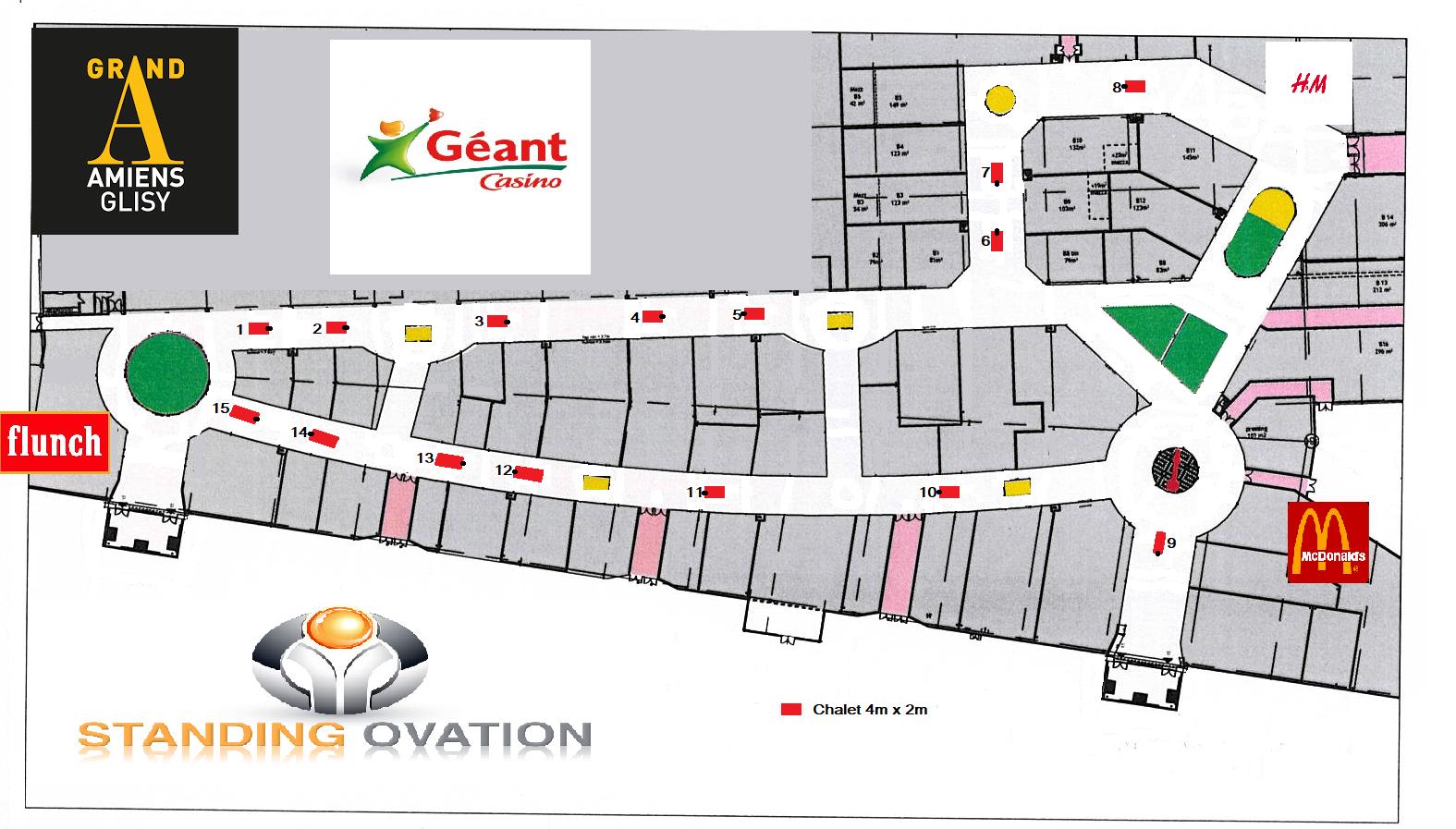Plan  Grand A Amiens Géant Casino Glisy