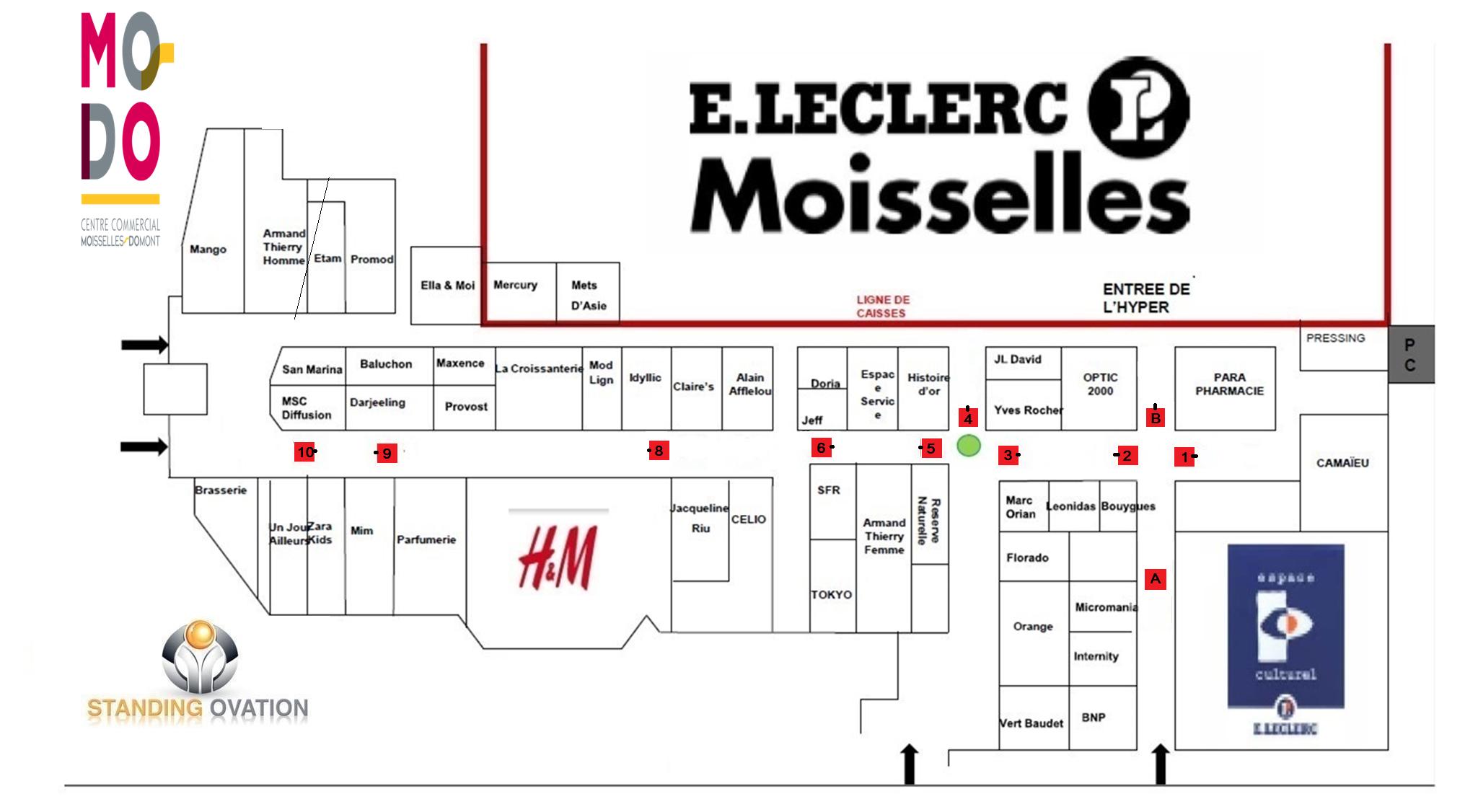 Plan  Moisselles MODO Leclerc